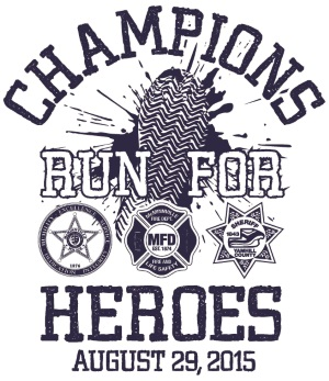 2015 Champions Run for Heroes Logo
