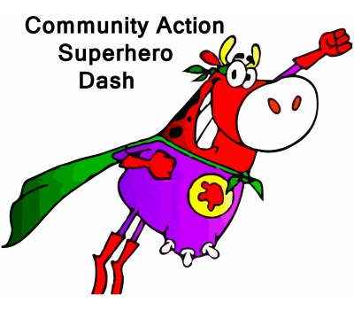 2016 Community Action Superhero Dash 10K, 5K, 1K Logo