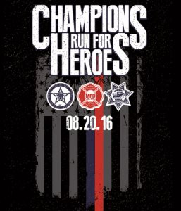 2016 Champions Run For Heroes Logo