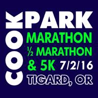 2016 Cook Park Marathon, Half Marathon, 5K Logo