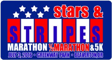 2016 Stars and Stripes Marathon, Half Marathon, 5K Logo