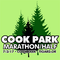 2017 Cook Park Marathon and Half Marathon Logo
