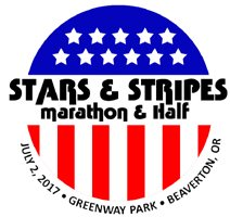 2017 Stars and Stripes Marathon, Half Marathon, 5K Logo