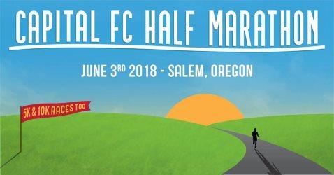 2018 Capital FC Half Marathon, 10K, 5K Logo