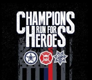 2018 Champions Run For Heroes Logo