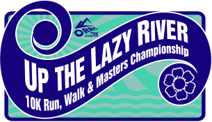 2019 Up The Lazy River 10K and Masters Championships Logo