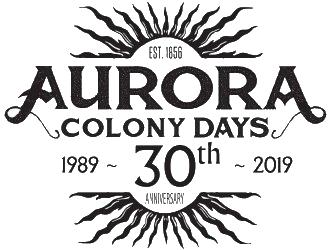 2019 Aurora Colony Days Logo