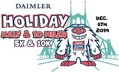 2019 Holiday Half, 10 Miler, 10K, and 5K Logo