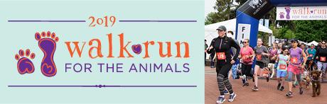 2019 Walk\Run for the Animals 5K Logo