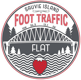 2020 Virtual Foot Traffic Flat Half Marathon 10K 5K Logo