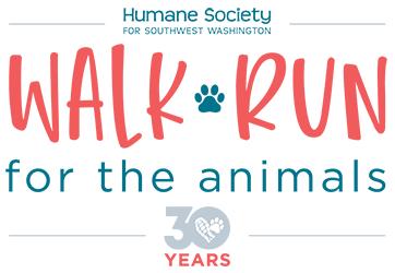 2021 Virtual Walk Run for the Animals 5K Logo