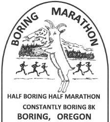 2016 Boring Marathon, Half Boring Half Marathon, Constantly Boring 8K Logo