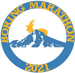 2021 Boring Marathon, Half Boring Half Marathon, Constantly Boring 8K Logo