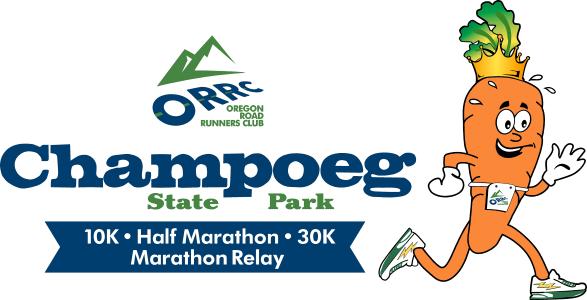 2019 OORC Champoeg 10K/Half/30K/Marathon Relay Logo