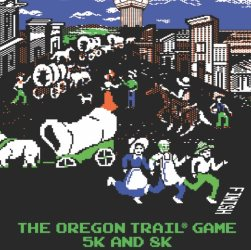 2017 Oregon Trail Game 5K Logo
