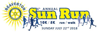 2018 Beaverton Sun Run 10K 5K Logo