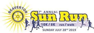 2019 Beaverton Sun Run 10K 5K Logo